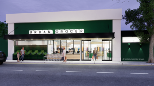 An illustration of the new store at 1625 Fort St. (urban-grocer.ca)