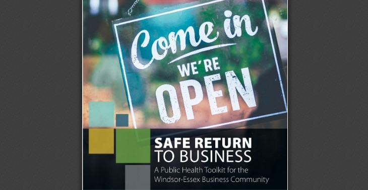 Safe Return to Business: A Public Health Toolkit for the Windsor-Essex Business Community. (Courtesy WECHU)