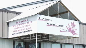 The owner of this martial arts studio in Lethbridge first said he would reopen ahead of schedule, but has since changed his mind.