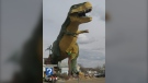 A photo of what is billed as the 'world's largest dinosaur' in Drumheller, Alta. in this June 15, 2010 photo. THE CANADIAN PRESS/Bill Graveland
