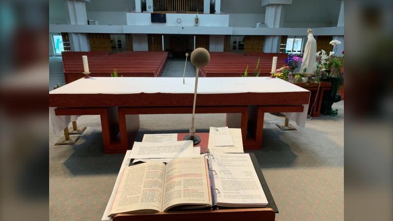 Holy Ghost Parish. (Source: Jamie Dowsett/CTV Winnipeg)
