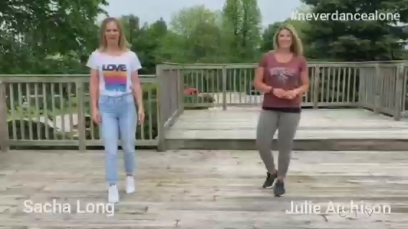 Sacha and Julie on 'Never Dance Alone-a-Thon'