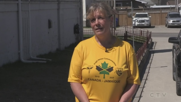 The winner of Rastall Hydraulic's Community Volunteer of the Month for May, Lyse Perron from Timmins, talks about her work in the community. (Sergio Arangio/CTV Northern Ontario)