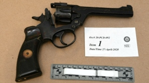 A 49-year-old Elliot Lake man shot himself with this revolver, the Special Investigations Unit has concluded in clearing police of wrongdoing. (Supplied)