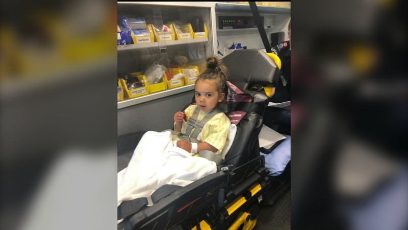 A Langley family is warning about the dangers of tick bites after their young daughter was hospitalized for several days and temporarily paralyzed. (Melissa Radmore)