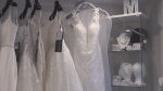 Memories Bridal on Ross Street in Barrie, Ont., has reopened its doors to slow business. (Aileen Doyle/CTV News)