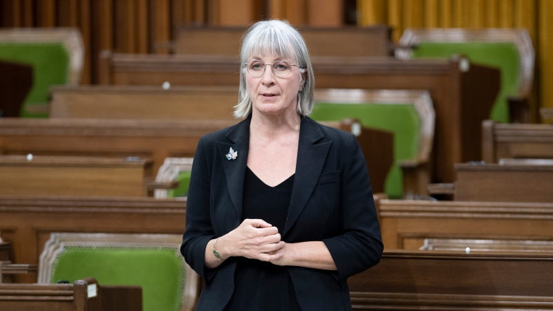 Minister of Health Patty Hajdu rises during a sitting of the Special Committee on COVID-19 in the House of Commons Thursday May 28, 2020 in Ottawa. THE CANADIAN PRESS/Adrian Wyld