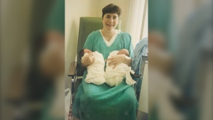 Gail Moore of Temiskaming Shores is celebrating being a multiple birth mom, having given birth to fraternal twin boys in 1993. (Supplied)