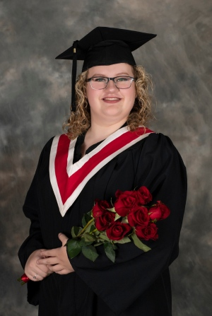 Arrianna Ward, graduating from Alberni District Secondary School.