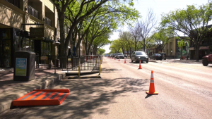 Some lanes on Whyte Avenue have been closed to give reopening businesses more room to welcome customers back during the pandemic. May 28, 2020. (CTV News Edmonton)