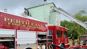 Perth East Fire and Rescue in Sebringville Ont. on May 28, 2020. (Courtesy: James Marshall-Perth East Fire)