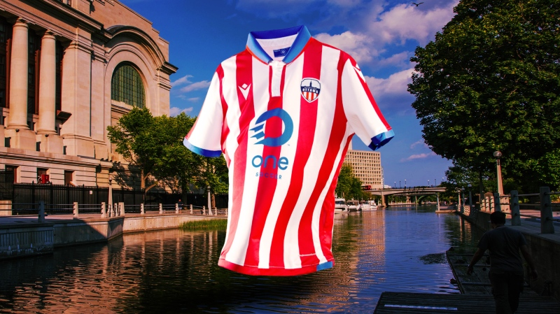 Atlético Ottawa has unveiled its new home jersey. (Photo: Atlético Ottawa, Canadian Premier League)