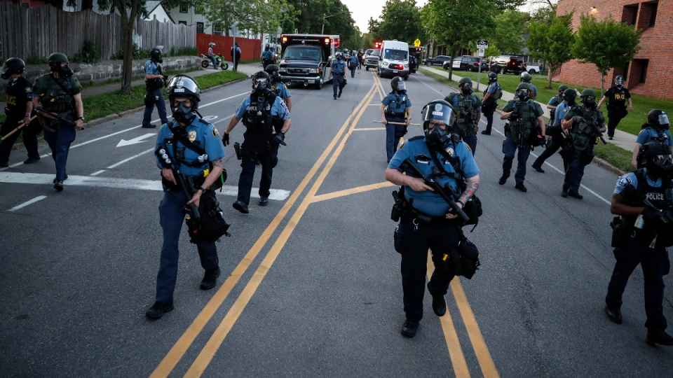 Police officers in St. Paul, Minn.