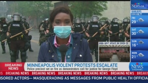The aftermath of violent protests in Minneapolis