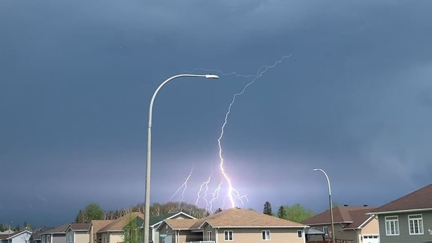 Lightning  during Timmins thunderstorm May 28/20