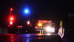 A police incident closed a stretch of Highway 1 near Hope, B.C. on May 29, 2020.