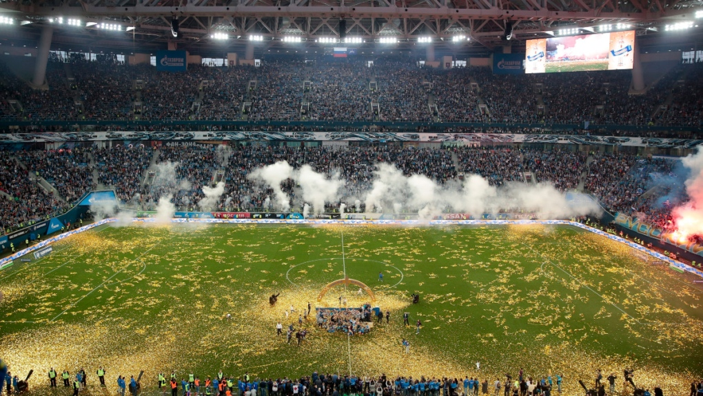 Russian premier league soccer match in 2019