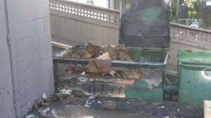 A fire was set Thursday in the 1000-block of Hillside Avenue, May 28, 2020.