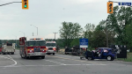 Ottawa Fire contained a fuel spill after a two-vehicle crash in Ottawa's west-end. (Photo courtesy: Twitter/OttFire)