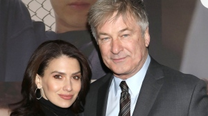 "In this Feb. 20, 2020 file photo, Hilaria Baldwin, left, and Alec Baldwin attend the Broadway opening night of ""West Side Story"" in New York. (Greg Allen/Invision/AP, File)"