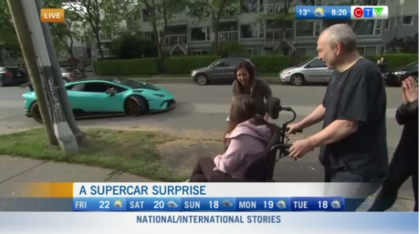 Supercar surprise