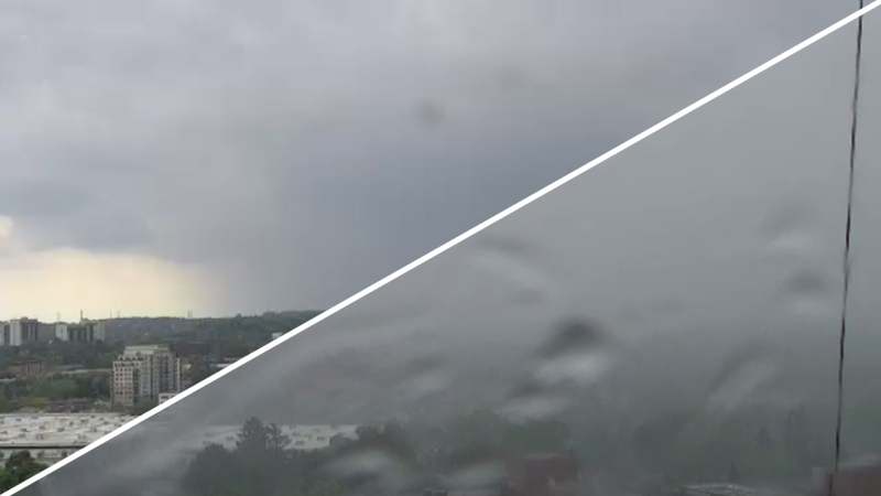 Time lapse of storm