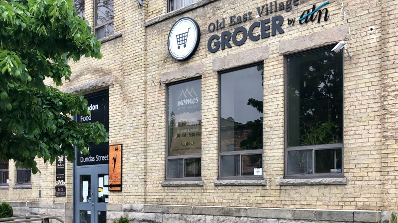 The Old East Village Grocer is seen in London, Ont. on Friday, May 29, 2020. (Jim Knight / CTV London)