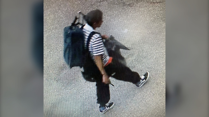 Lethbridge police need the public's help to identify this person believed to know something about a suspicious fire on May 25. (Supplied)
