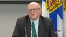 Dr. Robert Strang, Nova Scotia's chief medical officer of health, provides an update on COVID-19 during a news conference in Halifax on May 29, 2020.