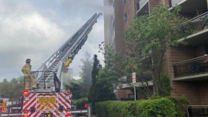 London apartment fire at 450 Highland Ave. on May 29, 2020. (London Fire Department/Twitter)