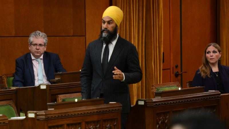 NDP leader Jagmeet Singh speaks during the COVID-19 Pandemic Committee in the House of Commons on Parliament Hill in Ottawa on Wednesday, May 27, 2020. THE CANADIAN PRESS/Sean Kilpatrick