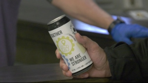 Full Beard Brewing in Timmins has come up with a new ale named 'Together, We Are Stronger,' with an eye on making a positive impact during the pandemic. (Lydia Chubak/CTV News)