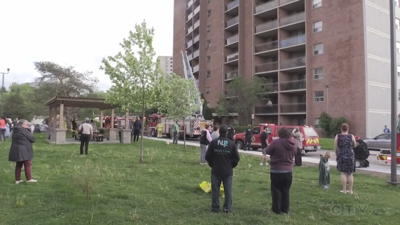Apartment fire at 450 Highland Ave.