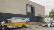 Ambulance stolen by naked man