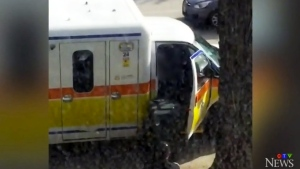 Brazen ambulance theft by naked man in Winnipeg
