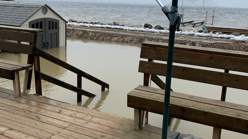 Cabin owners at Meeting Lake Regional Park want a long-term solution to the lake's rising water level. (Laura Woodward/CTV Saskatoon)