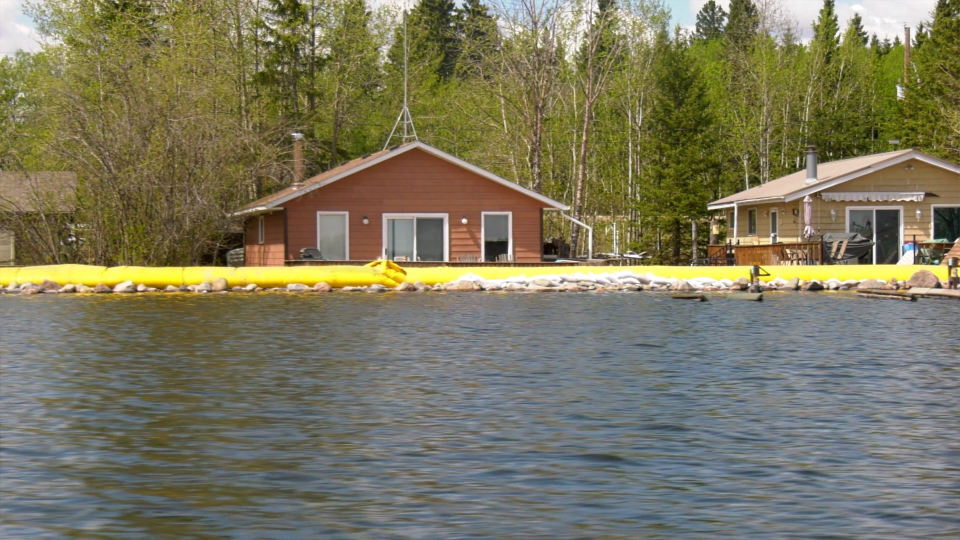 Cabin owners at Meeting Lake Regional Park want a long-term solution to the lake's rising water level.