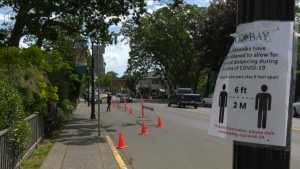 The Greater Victoria Placemaking Network wants municipalities to rethink their streetscapes, sidewalks and boulevards to better accommodate the safe movement of people and supporting the needs of businesses as the city reopens.