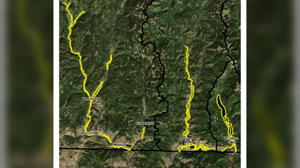 Flood evacuation map