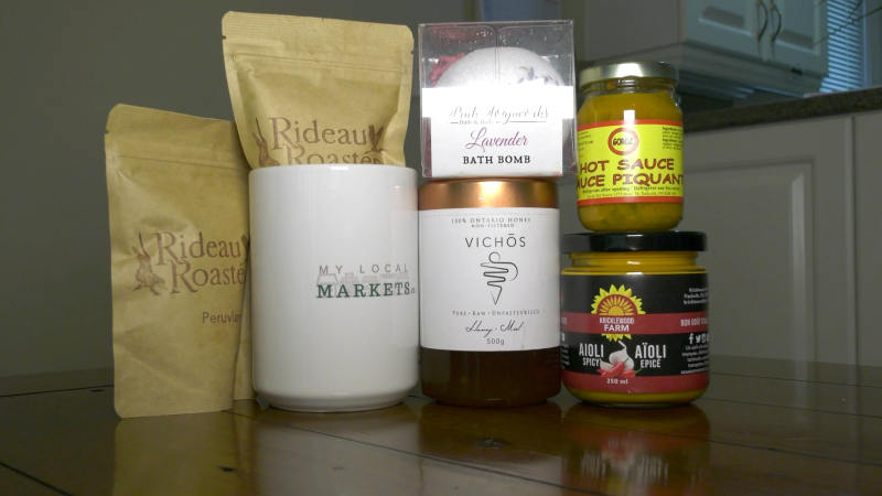 Mylocalmarkets.ca sells local products to consumers in Ottawa and eastern Ontario. (Nathan Vandermeer/CTV News Ottawa)