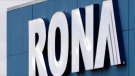A Rona store sign is seen in Halifax on Thursday, Dec.6, 2012. THE CANADIAN PRESS/Andrew Vaughan