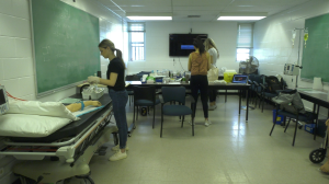 Health science students at Queen's University have returned to class to complete clinical placements during the COVID-19 pandemic. (Kimberley Johnson/CTV News Ottawa)