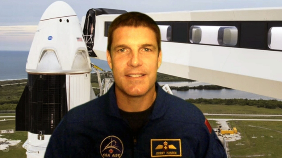 Canadian astronaut Jeremy Hansen talks to CTV News Channel on Saturday ahead of the historic SpaceX launch.