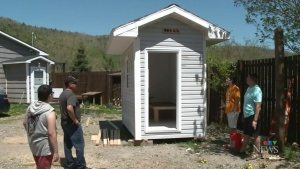 N.S. community builds shelter for man without home