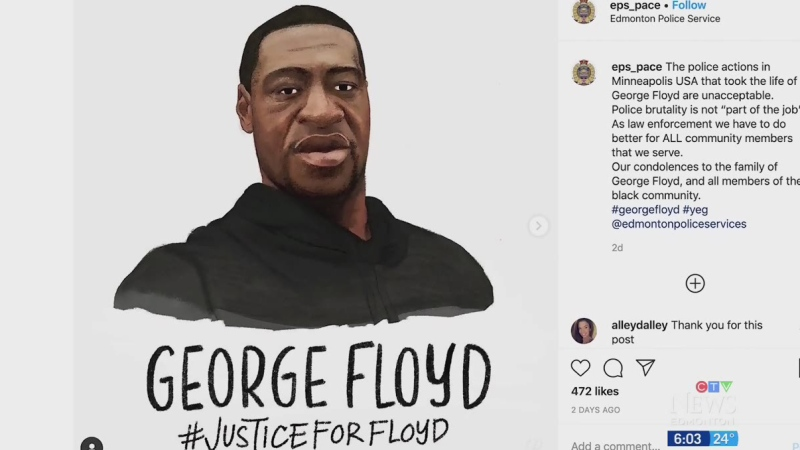 Edmonton police share tribute to George Floyd