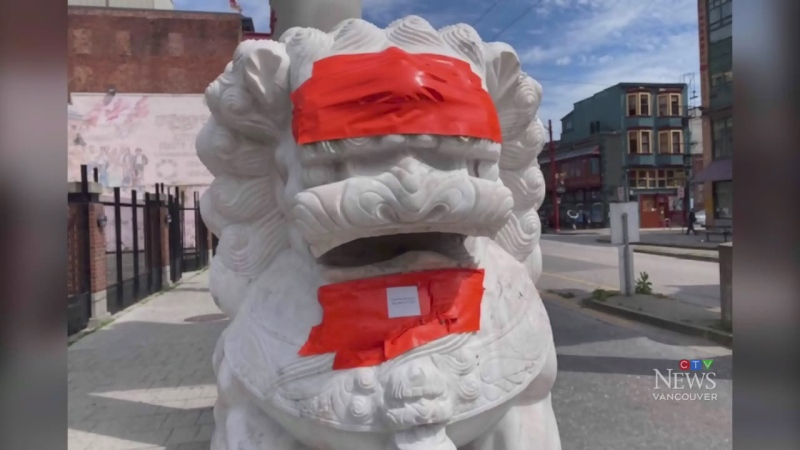 Chinatown lions vandalized twice in 2 weeks