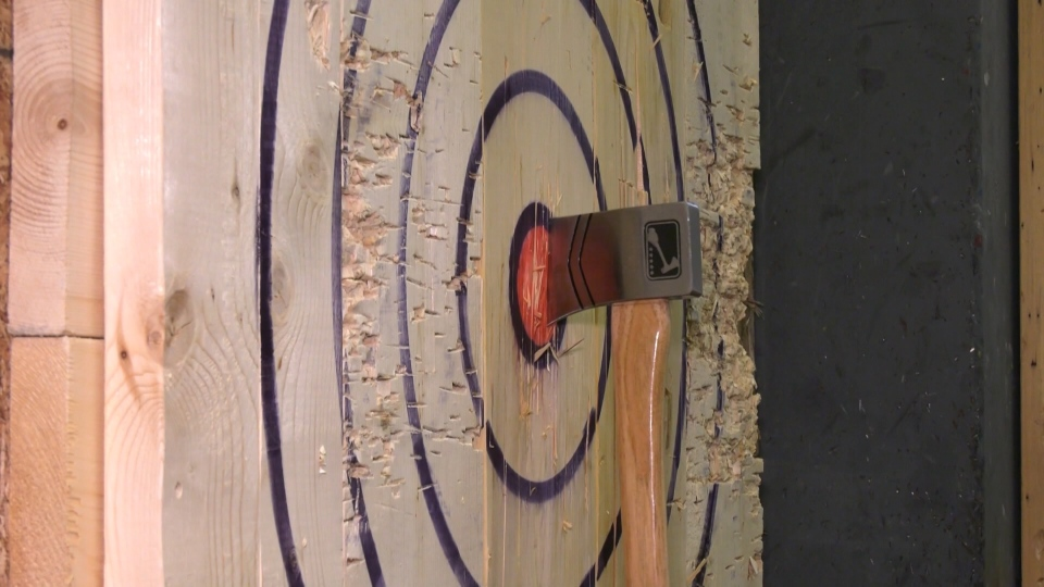 Growing interest in axe-throwing
