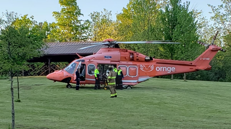 An individual is airlifted to hospital after falling down an embankment (Source: OPP)