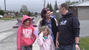 The Babin family decided to create a kids' version of the 'Rona Fairy' trend, to lift their spirits during the pandemic. May 31/2020 (Sergio Arangio/CTV News Northern Ontario)