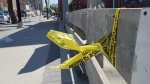 Police tape in the 500 block of Selkirk Avenue. (Source: CTV News/Dan Timmerman)